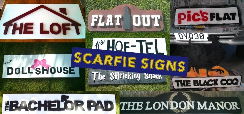 Flat signs collage